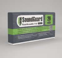 SoundGuard FloorAcoustic 110 (1000x300x20mm, 6m2) Минеральная плита